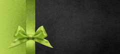 Image of Gift Voucher Black with Green Bow